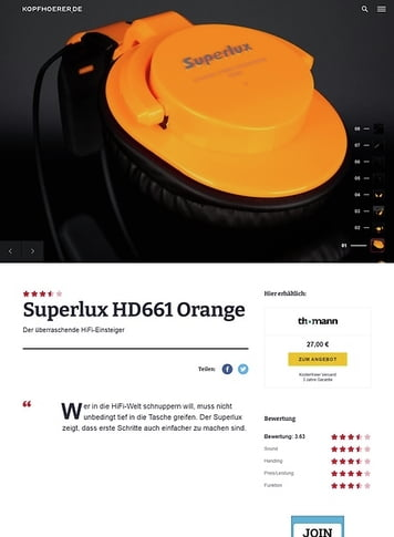 Kopfhoerer.de Superlux HD-661 Orange