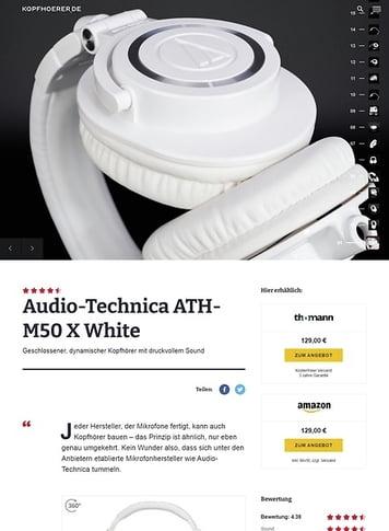 Kopfhoerer.de Audio-Technica ATH-M50 X WH