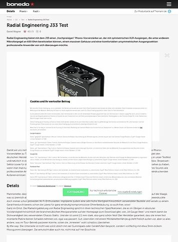 Bonedo.de Radial Engineering J33 Test