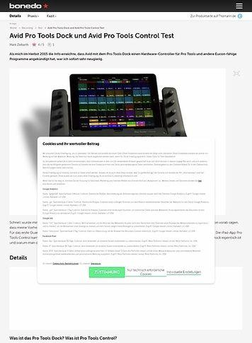 Bonedo.de Avid Pro Tools Dock und Avid Pro Tools Control