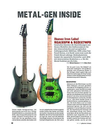 Gitarre & Bass Ibanez Iron Label RGAIX6FM & RGDIX7MPB, E-Gitarren
