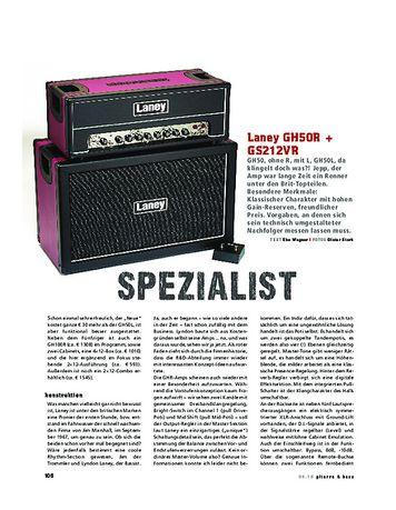 Gitarre & Bass Laney GH50R + Cab, Tube-Stack