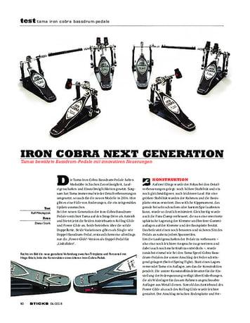 Sticks Tama Iron Cobra Bassdrum-Pedale