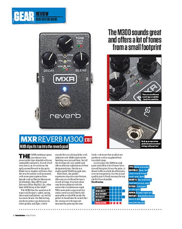 Total Guitar MXR Reverb M300