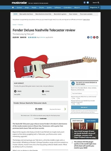 MusicRadar.com Fender Deluxe Nashville Telecaster