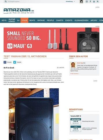 Amazona.de Test: Yamaha DBR 15, Aktivbox