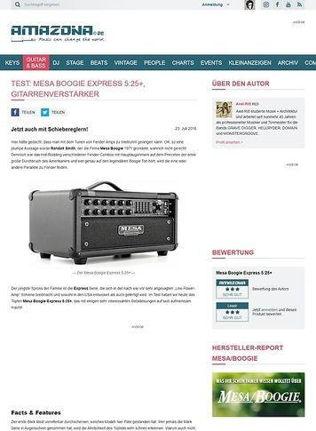 Amazona.de Test: Mesa Boogie Express 5:25+, Gitarrenverstärker