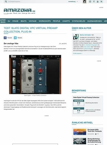 Amazona.de Test: Slate Digital VPC Virtual Preamp Collection, Plug-in