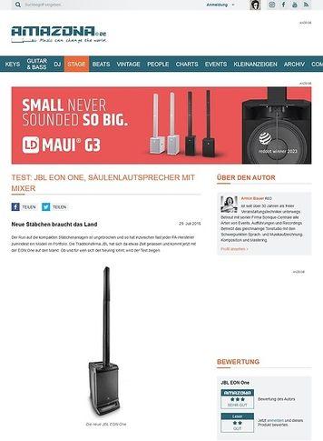 Amazona.de Test: JBL EON One, Säulenanlage mit Mixer
