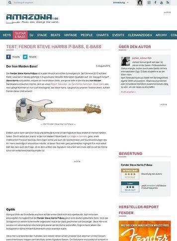 Amazona.de Test: Fender Steve Harris P-Bass, E-Bass