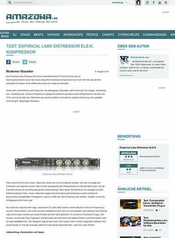 Amazona.de Test: Empirical Labs Distressor EL8-X, Kompressor