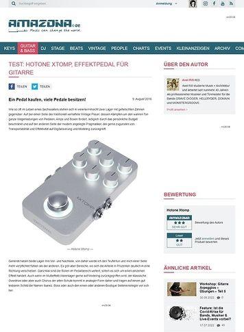 Amazona.de Test: Hotone Xtomp, Effektpedal für Gitarre