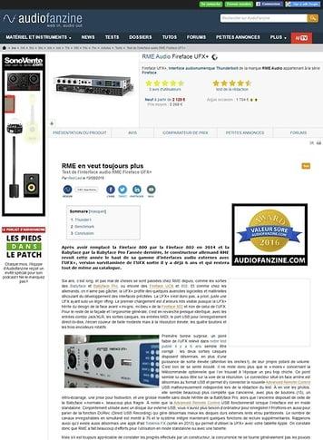 Audiofanzine.com RME Audio Fireface UFX+