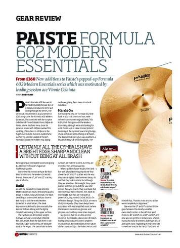 Rhythm Paiste Formula 602 Modern Essentials