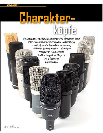 Professional Audio Günstige Großmembranmikrofone