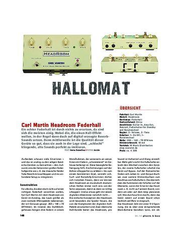 Gitarre & Bass Carl Martin Headroom Federhall