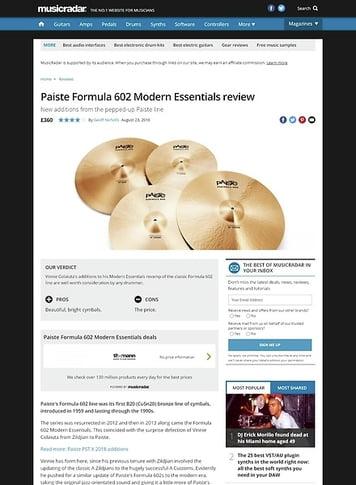 MusicRadar.com Paiste Formula 602 Modern Essentials
