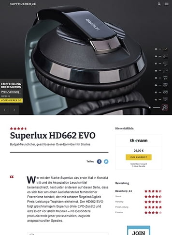Kopfhoerer.de Superlux HD-662 BK Evo