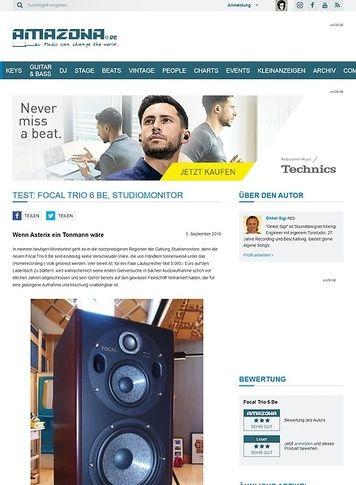Amazona.de Test: Focal Trio 6 Be, Studiomonitor