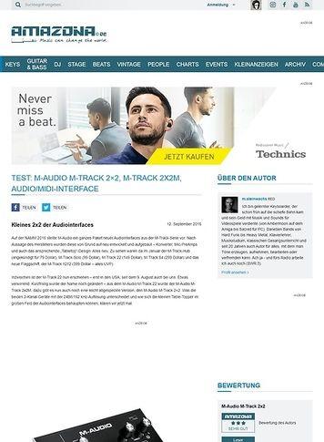 Amazona.de Test: M-Audio M-Track 2x2, M-Track 2x2M, Audio/Midi-Interface