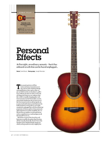 Guitarist Yamaha LS-TA Transacoustic