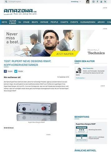Amazona.de Test: Rupert Neve Designs RNHP, Kopfhörerverstärker