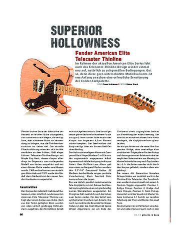 Gitarre & Bass Fender American Elite Telecaster Thinline, E-Gitarre