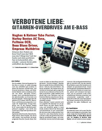Gitarre & Bass Im Vergleich! Gitarrenzerrer am Bass