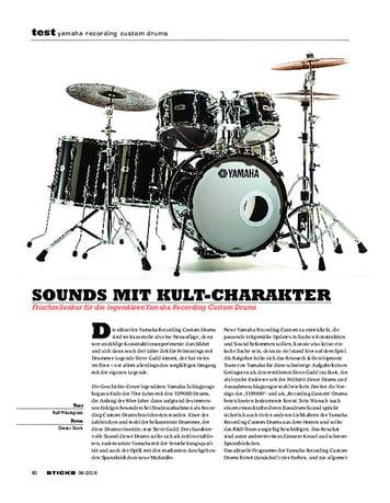 Sticks Yamaha Recording Custom Drums