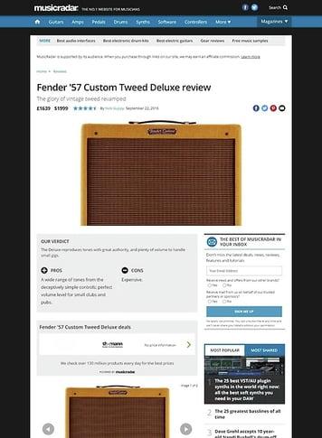 MusicRadar.com Fender '57 Custom Deluxe