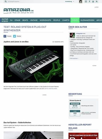 Amazona.de Test: Roland System-8, Synthesizer