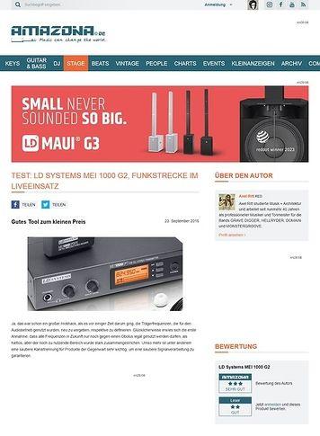 Amazona.de Test: LD Systems MEI 1000 G2, Funkstrecke im Liveeinsatz