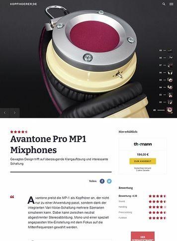 Kopfhoerer.de Avantone Mixphones MP-1