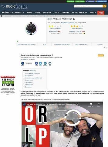 Audiofanzine.com Zoom ARQ Aero RhythmTrak