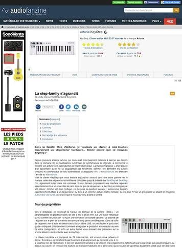Audiofanzine.com Arturia KeyStep