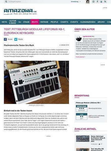 Amazona.de Test: Pittsburgh Modular Lifeforms KB-1, Synthesizer Modul