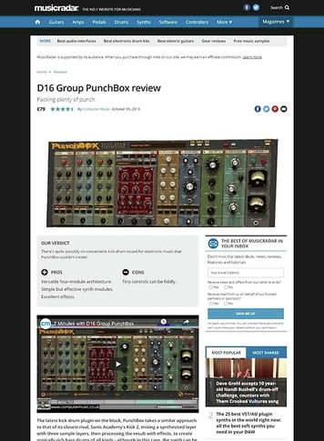 MusicRadar.com D16 Group PunchBox