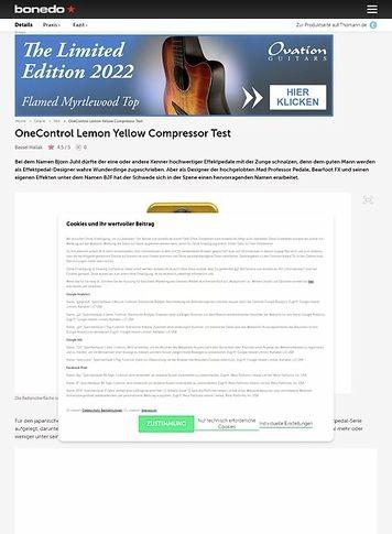 Bonedo.de OneControl Lemon Yellow Compressor