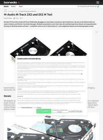 Bonedo.de M-Audio M-Track 2X2 und 2X2 M