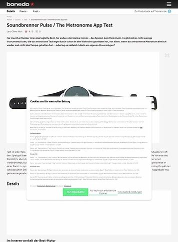 Bonedo.de Soundbrenner Pulse / The Metronome App