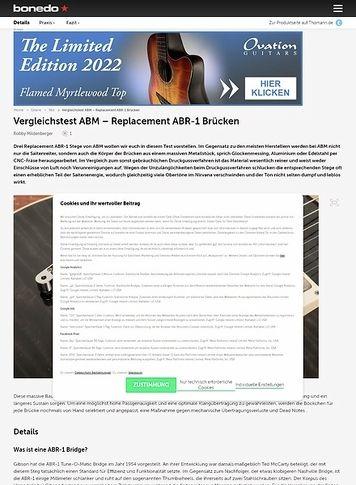 Bonedo.de Vergleichstest ABM - Replacement ABR-1 Brücken