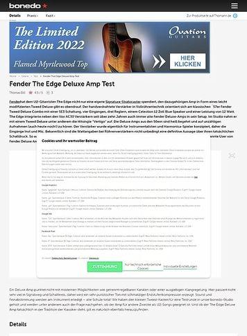 Bonedo.de Fender The Edge Deluxe Amp