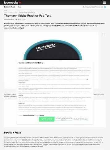 Bonedo.de Thomann Sticky Practise Pad