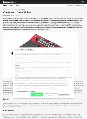 Bonedo.de Clavia Nord Drum 3P