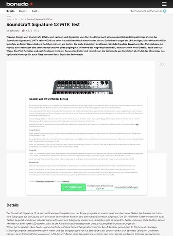 Bonedo.de Soundcraft Signature 12 MTK