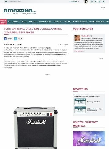 Amazona.de Test: Marshall 2525C Mini Jubilee Combo, Gitarrenverstärker