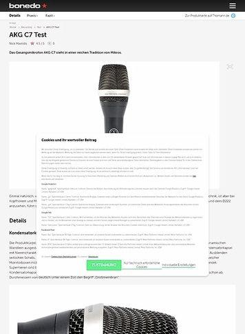 Bonedo.de AKG C7
