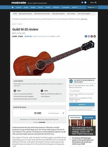 MusicRadar.com Guild M-20