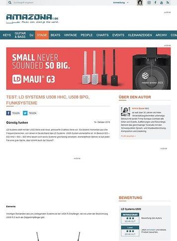 Amazona.de Test: LD Systems U508 HHC, U508 BPG, Funksysteme