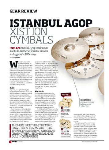 Rhythm Istanbul Agop Xist ION Cymbals